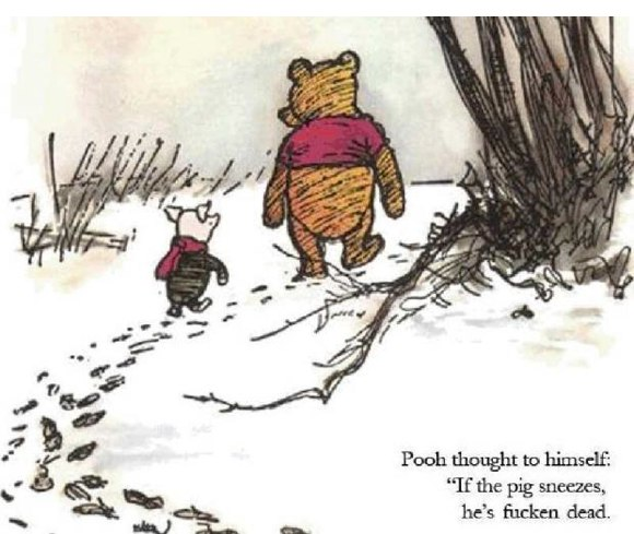 Piglet And Winnie The Pooh Quotes: The More It Grows (Tiddly Pom) The More It Grows (Tiddly
